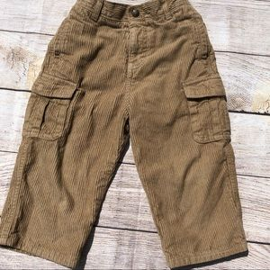 24 month corduroy khaki pants-thick nice red liner